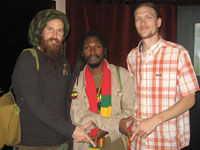 The Crucialites Ras Scott with Roots Reggae artis from Guiana, Arkaingelle and Blake Dally